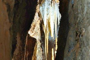 Inside of beautiful old dark cave
