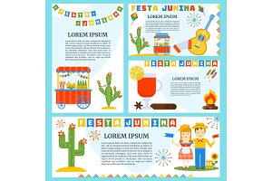 festa junina banners set