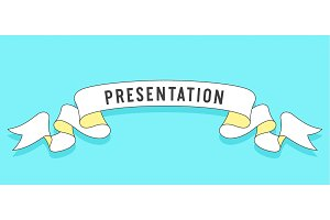 Presentation. Vintage trendy ribbon