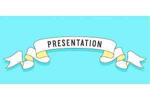 Presentation. Vintage trendy ribbon