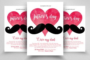 Super Daddy Father's Day Flyer Temp