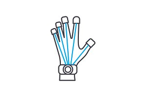 Prosthetics technology linear icon concept. Prosthetics technology line vector sign, symbol, illustration.