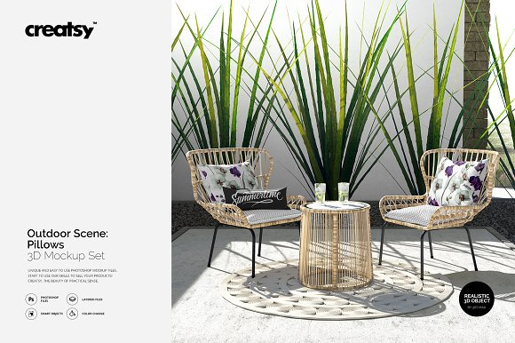 Download Outdoor Scene: Pillow Mockup