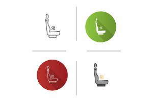 Heated car seat icon