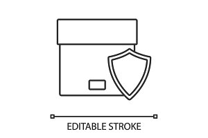 Secure delivery linear icon