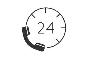Hotline glyph icon