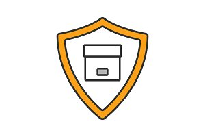 Secure delivery color icon
