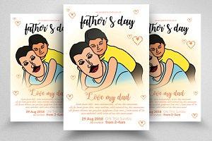 Super Dad Father's Day Flyer Temp