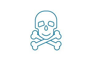 Scanning bones linear icon concept. Scanning bones line vector sign, symbol, illustration.