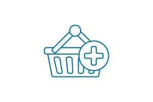 Shopping linear icon concept. Shopping line vector sign, symbol, illustration.