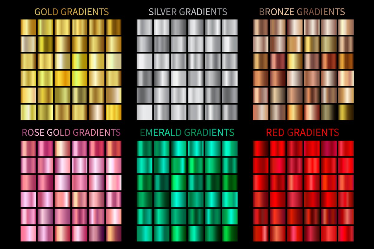 Set of Colorful Gradients .AI .GRD
