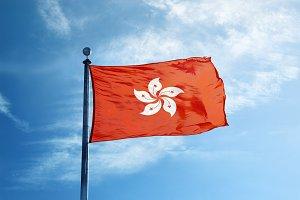 Hong Kong flag on the mast
