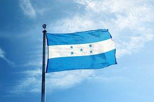 Honduras flag on the mast