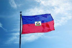 Haiti flag on the mast