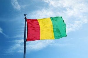 Guinea flag on the mast