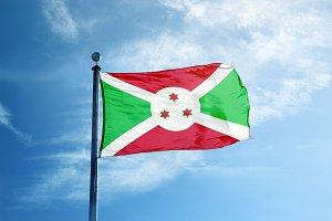 Burundi flag on the mast