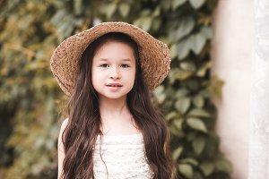 Stylish child girl