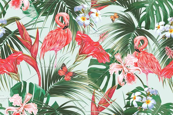Tropical botanical pattern