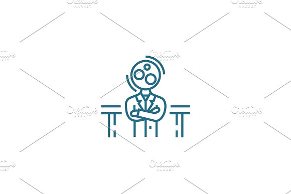 State of confusion linear icon concept. State of confusion line vector sign, symbol, illustration.