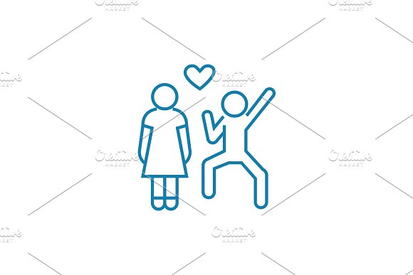 State of love linear icon concept. State of love line vector sign, symbol, illustration.