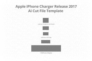 Apple iPhone Charger Vinyl Skin Cut