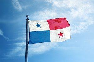 Panama flag on the mast