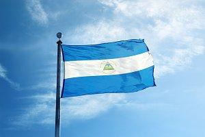 Nicaragua flag on the mast
