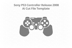 Sony PS3 Dual Shock 3 Skin Cut File