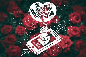 I love You - Message From Smartphone