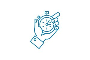 Tight deadlines linear icon concept. Tight deadlines line vector sign, symbol, illustration.