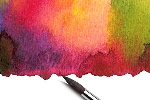 Watercolor painted background with b