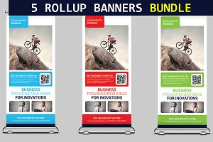 5 Conference Roll-Up Banners Bundle