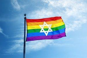 Colorful rainbow flag
