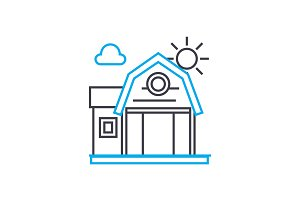 Vacation home linear icon concept. Vacation home line vector sign, symbol, illustration.