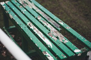 Old football players bench