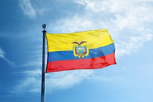 Ecuador flag on the mast