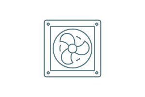 Vent linear icon concept. Vent line vector sign, symbol, illustration.