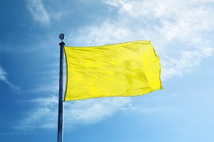 Yellow Flag on the mast