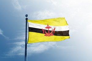 Brunei Flag on the masta