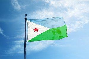 Djibouti flag on the mast