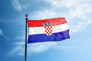 Croatia flag on the mast