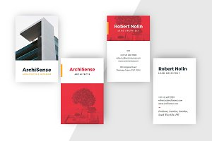 Business Card Template: Yellow & Red