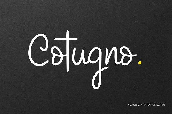 Cotugno Script Font %INTRO SALE%