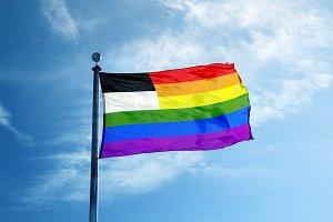 Fribourg Rainbow flag