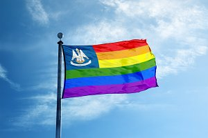 Louisiana Rainbow flag