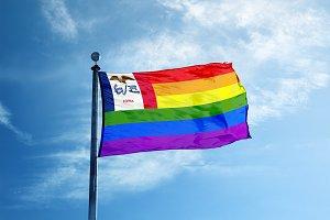 lowa Rainbow flag