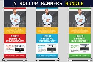 5 Multipurpose Roll-Up Banner Bundle