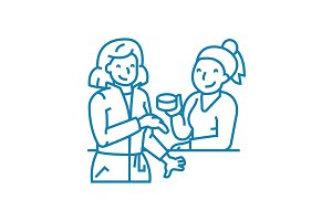 Work gossip linear icon concept. Work gossip line vector sign, symbol, illustration.