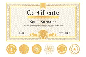 Certificate Sample with Place for Name and Surname