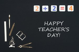 happy teacher's day on blackboard